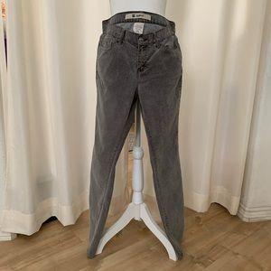 Gap Gray Corduroy Slim Fit Stretch Jeans